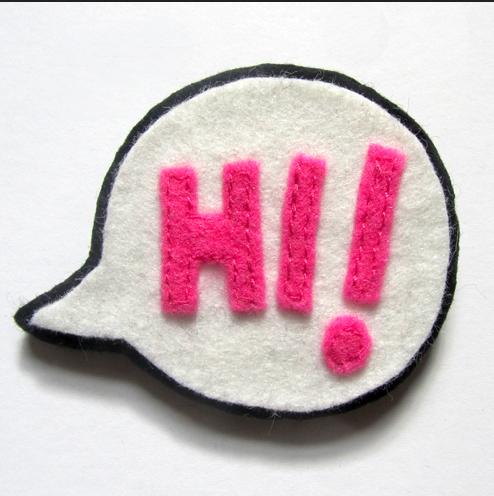 Hi! Speech Bubble